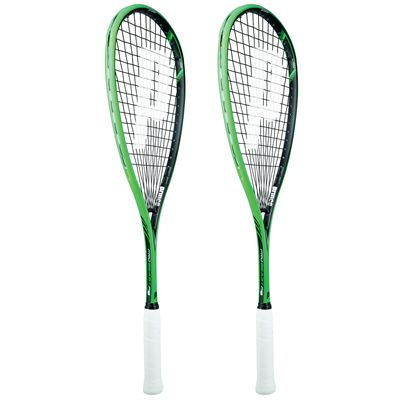 Prince Pro Beast 750 PowerBite Squash Racket Double Pack-Angled
