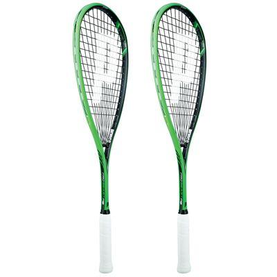 Prince Pro Beast 750 PowerBite Squash Racket Double Pack-Angled
