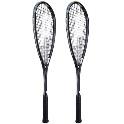 Prince Pro Warrior 600 Ramy Squash Racket Double Pack-Angled