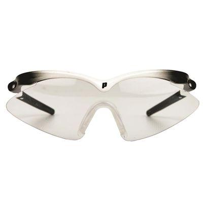 Prince Scopa Slim Squash Eyewear - White and black frame