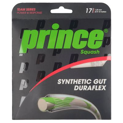 Prince Synthetic Gut Duraflex Squash String Set - White