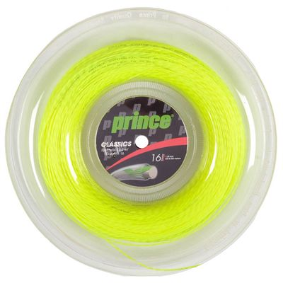 Prince Synthetic Gut with Duraflex Tennis String - 200m Reel - Yellow