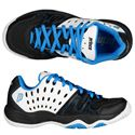 Prince T22 Junior Tennis Shoes-Blue and Black and White-Alternative View