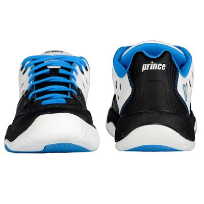 Prince T22 Junior Tennis Shoes-Blue and Black and White-Back and Front