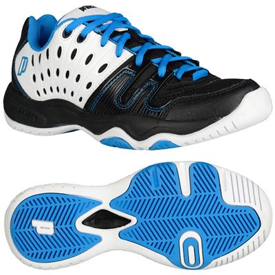 Prince T22 Junior Tennis Shoes-Blue and Black and White