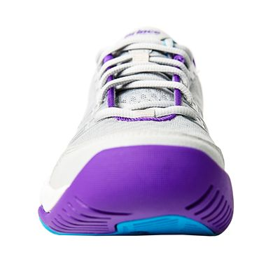 Prince T22 Lite Ladies Tennis Shoes-Grey and Purple and Blue - Toe