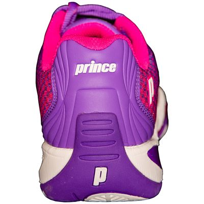 Prince T22 Lite Ladies Tennis Shoes-Purple and Pink-Heel
