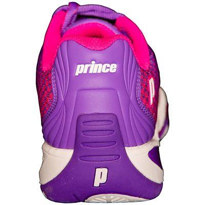 Prince T22 Lite Ladies Tennis Shoes-Purple and Pink-Heel