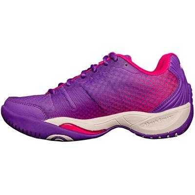 Prince T22 Lite Ladies Tennis Shoes-Purple and Pink-Medial