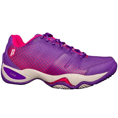 Prince T22 Lite Ladies Tennis Shoes-Purple and Pink-Side
