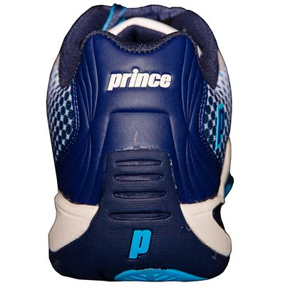 Prince T22 Lite Mens Tennis Shoes-White and Navy and Blue-Heel