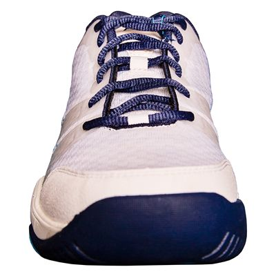 Prince T22 Lite Mens Tennis Shoes-White and Navy and Blue-Toe
