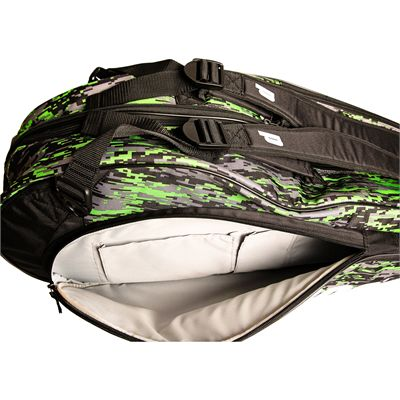Prince Team 6 Pack Racket Bag-Black and Green-Inside
