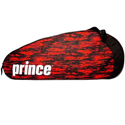 Prince Team 6 Pack Racket Bag-Black and Red-Angle View