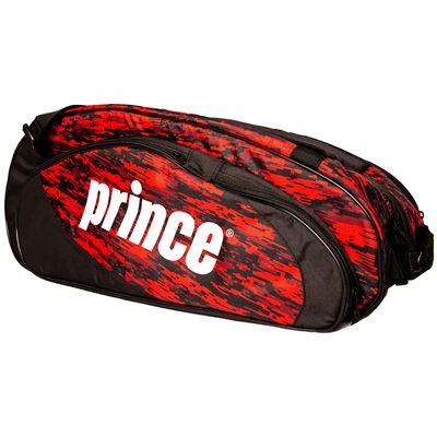 Prince Team 6 Pack Racket Bag-Black and Red-Side