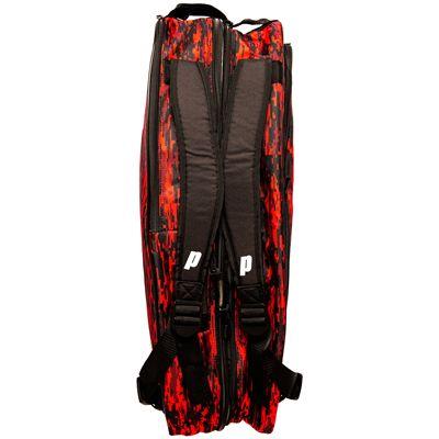 Prince Team 6 Pack Racket Bag-Black and Red-Top