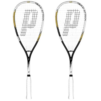 Prince Team Attack 400 Squash Racket Double Pack