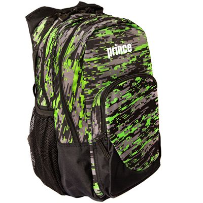 Prince Team Backpack-Black and Green-Angled