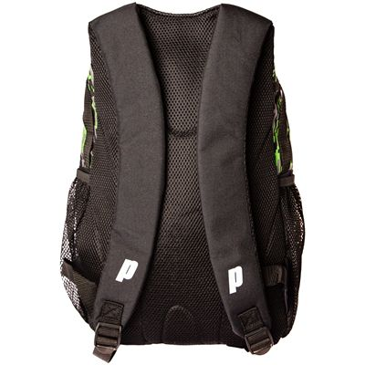 Prince Team Backpack-Black and Green-Back