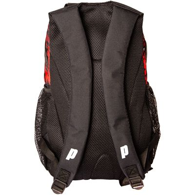 Prince Team Backpack-Black and Red-Back