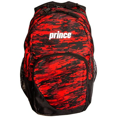 Prince Team Backpack-Black and Red-Front