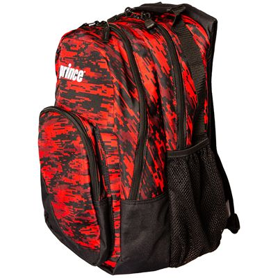 Prince Team Backpack-Black and Red-Side