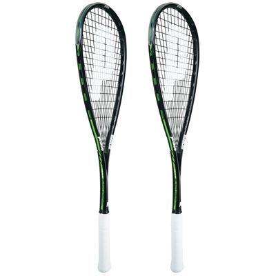 Prince Team Black Original 800 Squash Racket Double Pack SS16-Angled