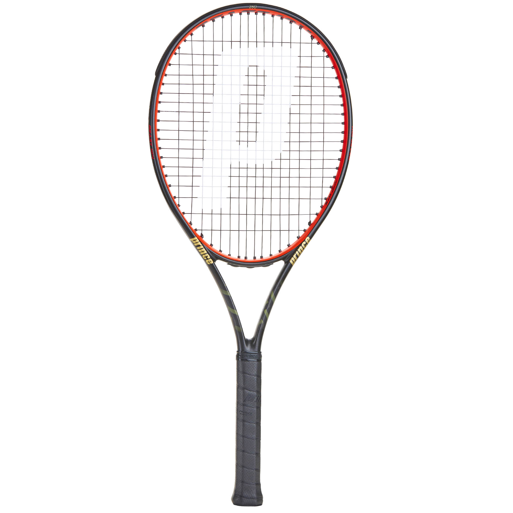 Prince TeXtreme Beast 104 260 Tennis Racket - Black/Red, Grip 2