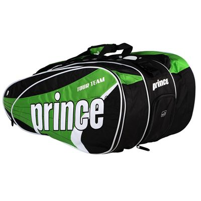 Prince Tour Team 12 Racket Bag - Black/Green
