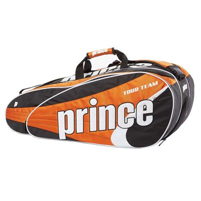 Prince Tour Team 12 Racket Bag - Black/Orange