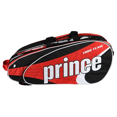 Prince Tour Team 12 Racket Bag - Black/Red