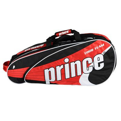 Prince Tour Team 12 Racket Bag - Black/White/Red