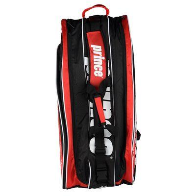 Prince Tour Team 12 Racket Bag - Black/White/Red - Top