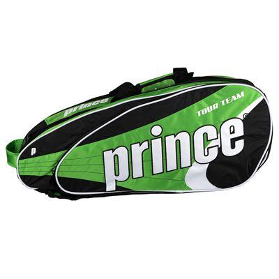 Prince Tour Team 9 Racket Bag - Black/White/Green