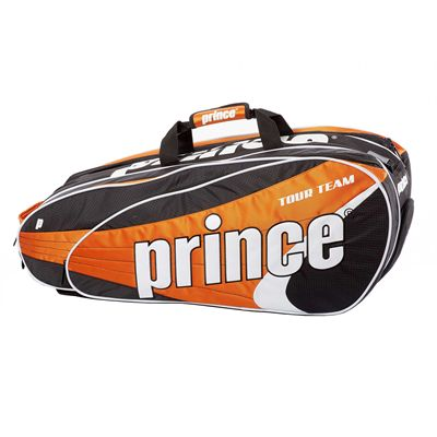 Prince Tour Team 9 Racket Bag - Black/White/Orange