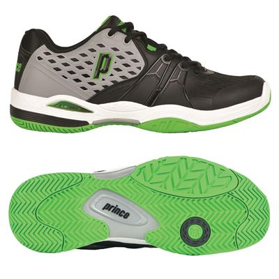 Prince Warrior Mens Tennis Shoes - Grey/Black/Green