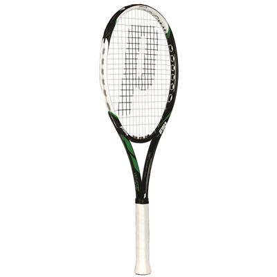 Prince White LS 100 Tennis Racket  Angle