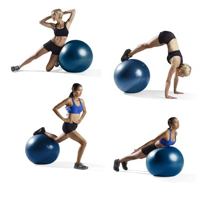 ProForm 65cm Anti Burst Stay Gym Ball - Exercises