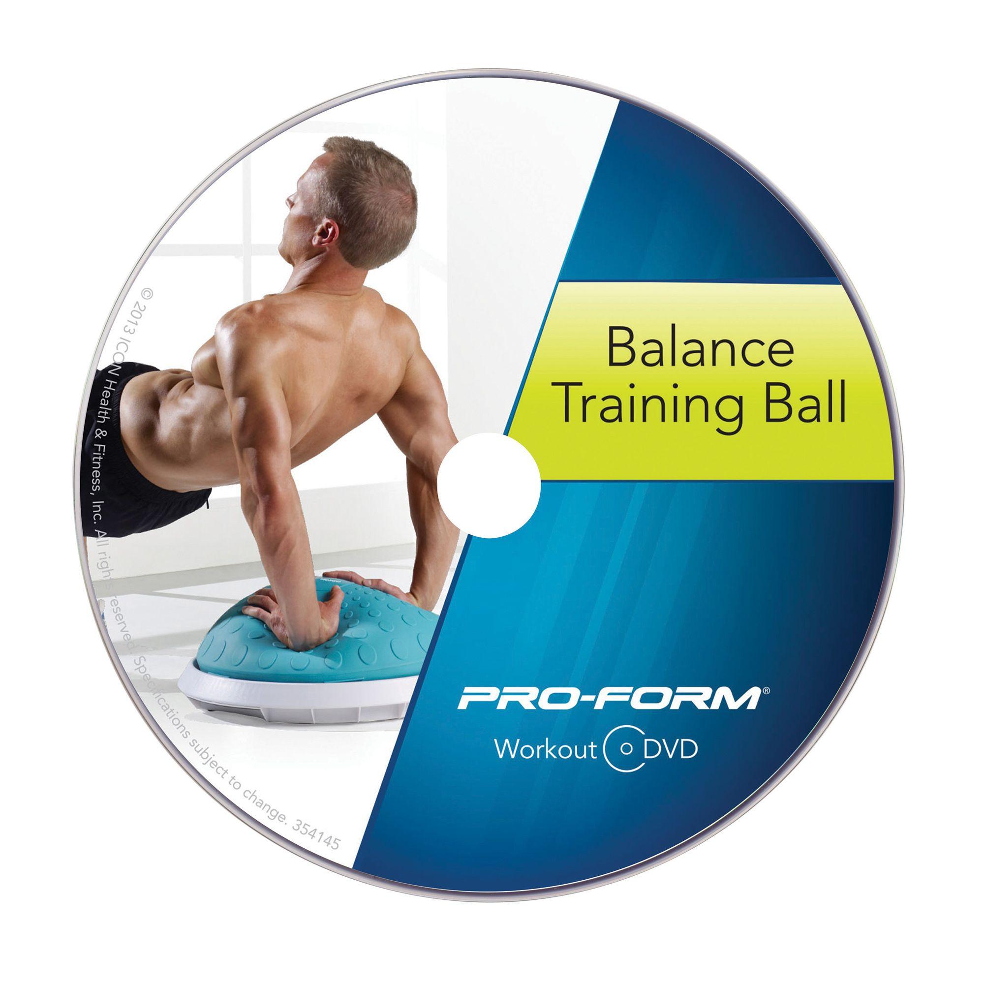 Balance Ball Dvd: ProForm Balance Training Ball