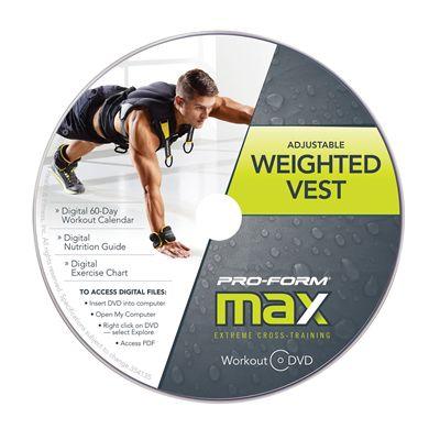 ProForm Max Adjustable Weighted Vest Set - Workout DVD