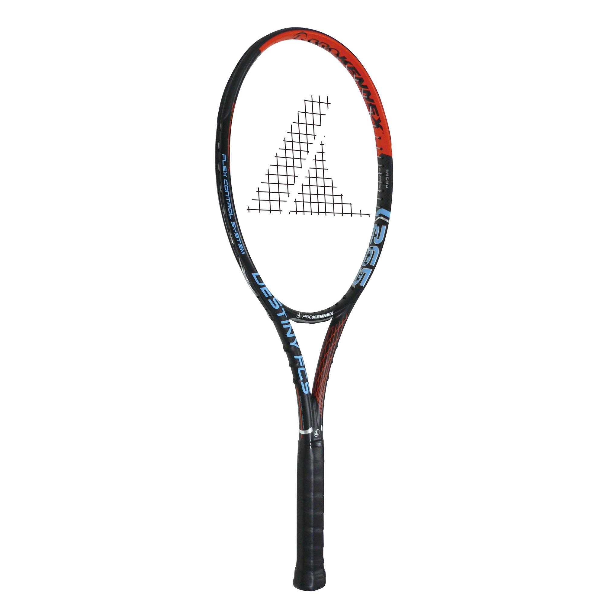 ProKennex Destiny FCS 265 Tennis Racket  BlackOrange Grip 2