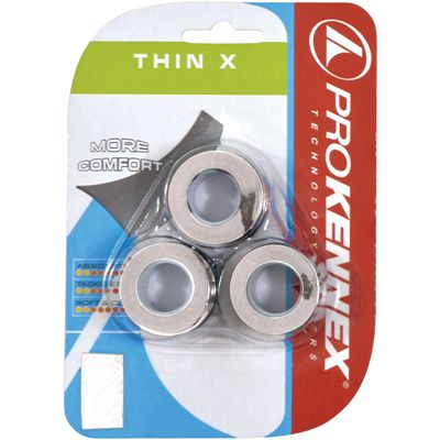 ProKennex Thin X Overgrip 3 pack white