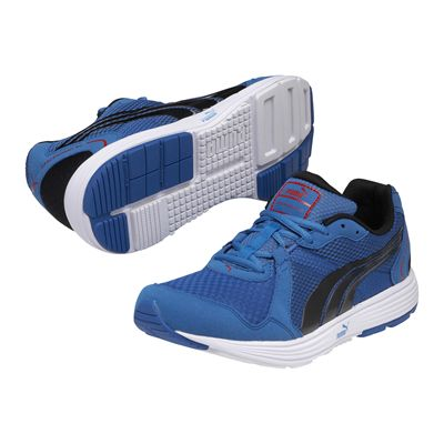Puma Descendant V2 Mens Running Shoes-Blue and Black