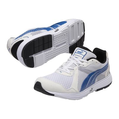 Puma Descendant V2 Mens Running Shoes-White and Blue