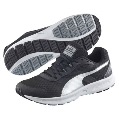 Puma Descendant V3 F5 Mens Running Shoes-Black And White