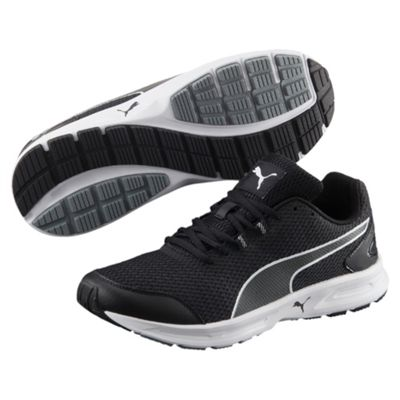 Puma Descendant v4 Mens Running Shoes-Black-White