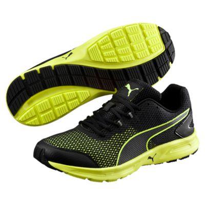Puma Descendant v4 Mens Running Shoes-Black-Yellow