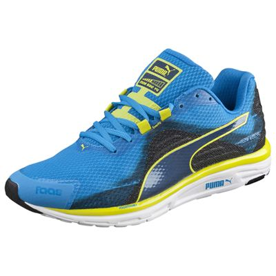 Puma Faas 500 V4 F5 Mens Running Shoes Blue-Black-Yellow - Angle View