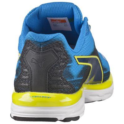 Puma Faas 500 V4 F5 Mens Running Shoes Blue-Black-Yellow - Rear View