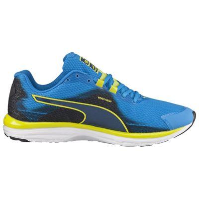 Puma Faas 500 V4 F5 Mens Running Shoes Blue-Black-Yellow - Side View